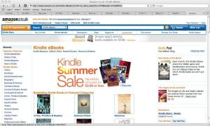 Angels of Life and Death on the Amazon UK Kindle home page
